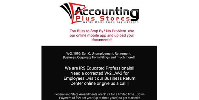 Accounting Plus slide 1