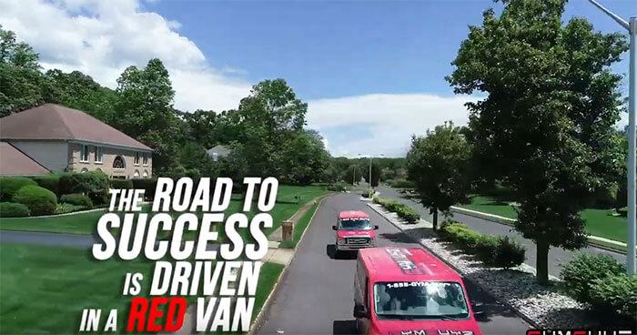The Road To Success is Driven in A Red Van