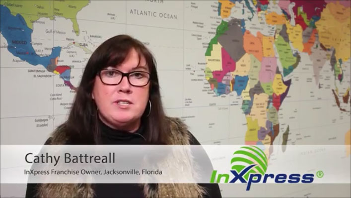 InXpress Top franchisee Cathy Battreall