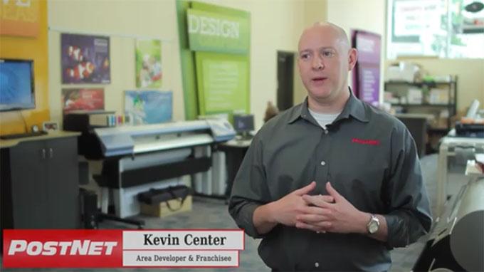 PostNet Area Developer and Franchisee, Kevin Center