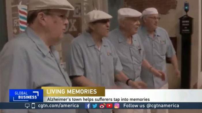 1950's replica town uses reminiscence therapy for dementia and Alzheimer's patients
