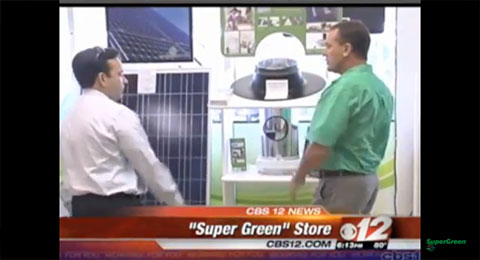 SuperGreen Solutions on CBS 12 WPB