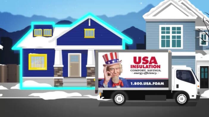 USA Insulation: House In The Middle